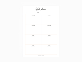 Weekplanner notepad A5