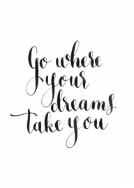 Kaart Go where your dreams take you