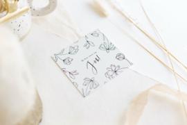 Mini Kaartje floral 'Trots op jou'