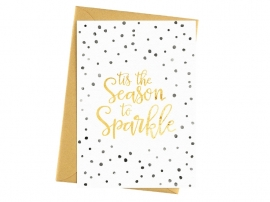 Kerstkaart - Tis the season to sparkle