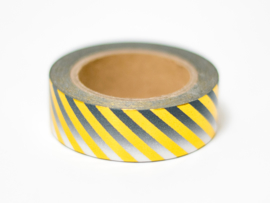 Masking tape | Gold foil striped ombre black
