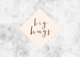 Greeting card | Big hugs