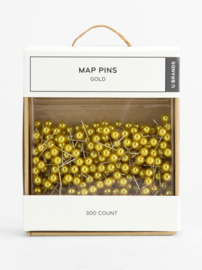 Golden map pins