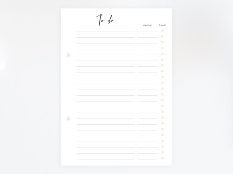 To-do lijst - Printable