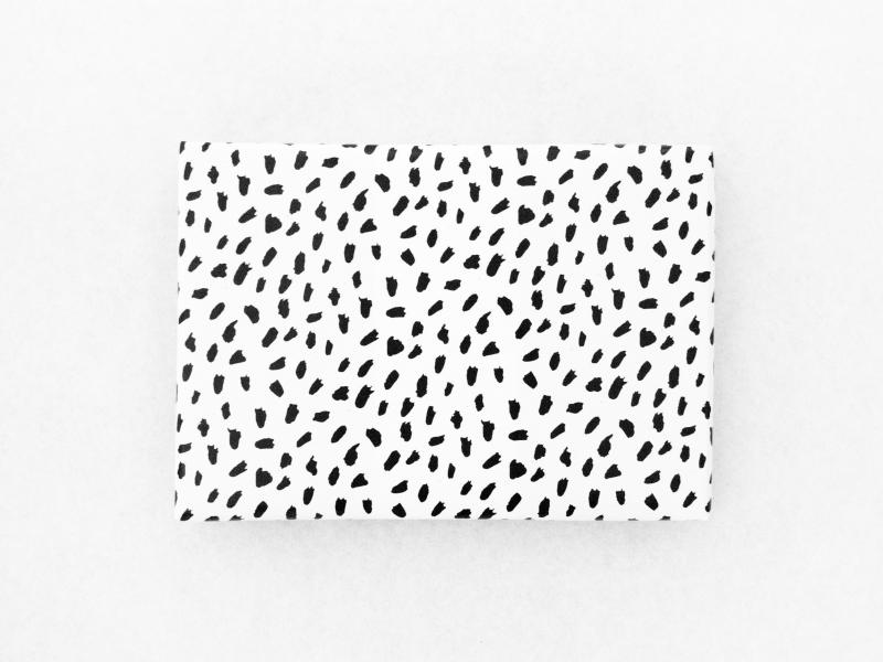 Inpakpapier brush dots