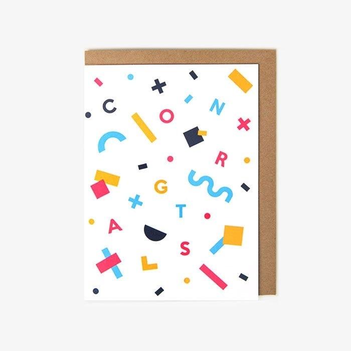 Greeting card | Congrats confetti