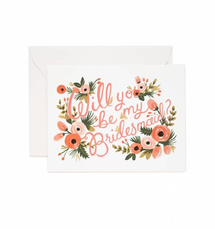 Greeting card | Will you be my bridesmaid?