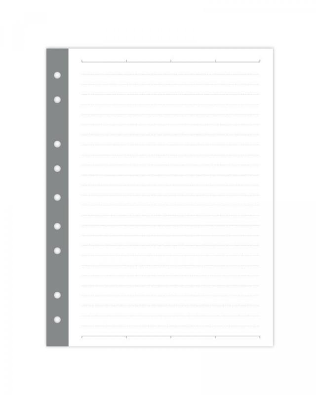 Mini binder gelinieerde pagina's