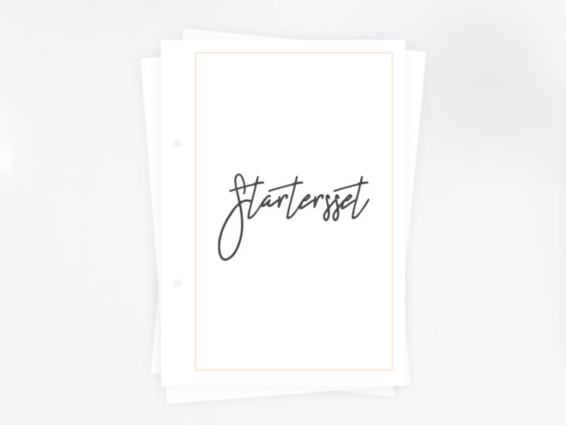 Startersset - Printable