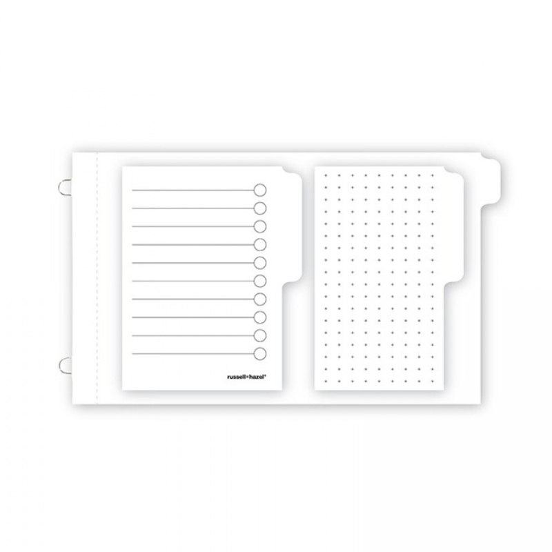 Mini loop adhesive notes binder insert