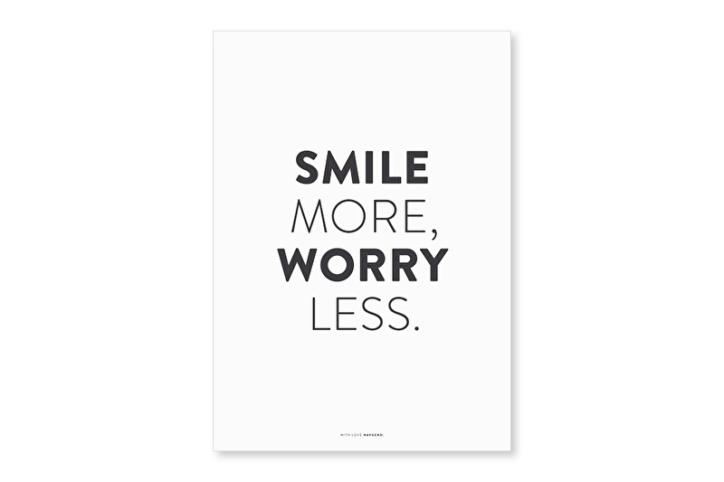 Poster A4 Smile more