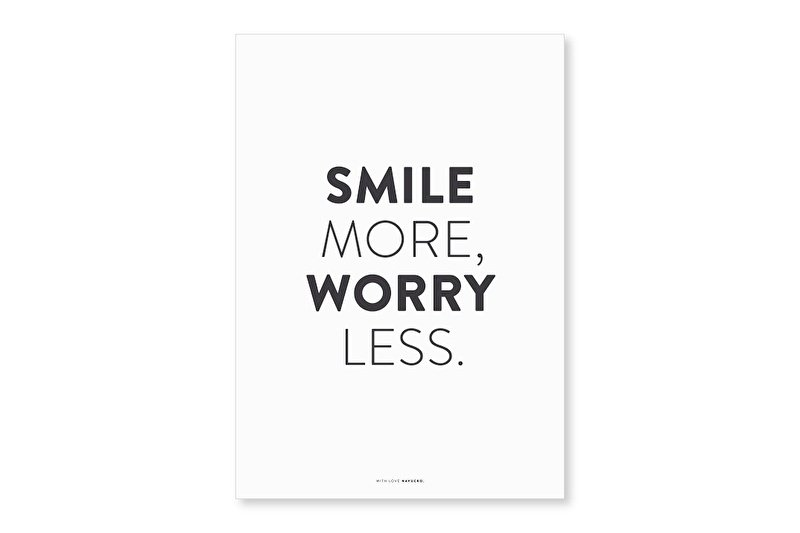 Poster A4 | Smile more