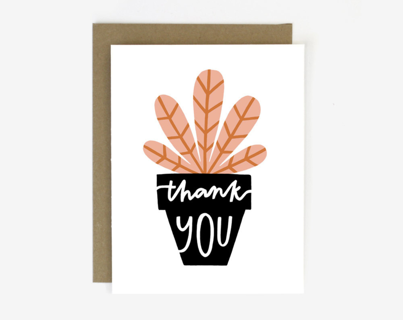 Greeting card |  Thank You Potted Plant