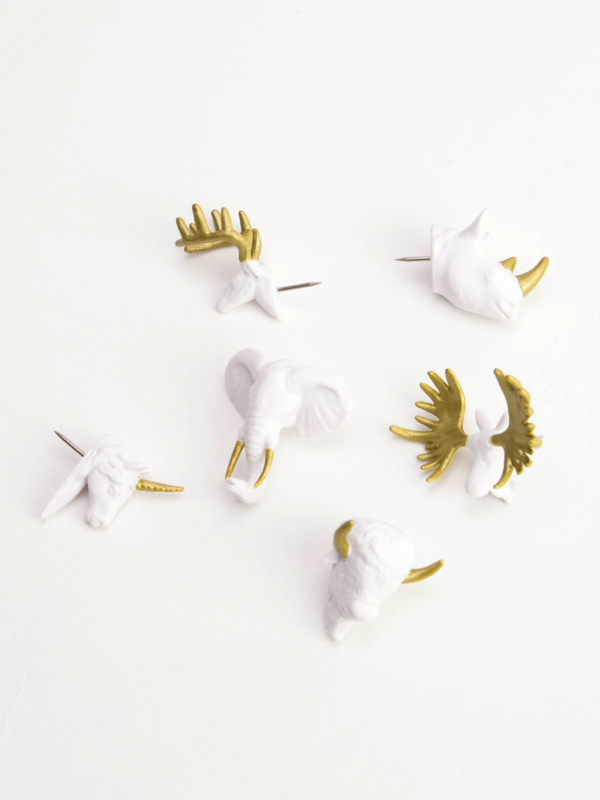 Push pins | Animal head gold