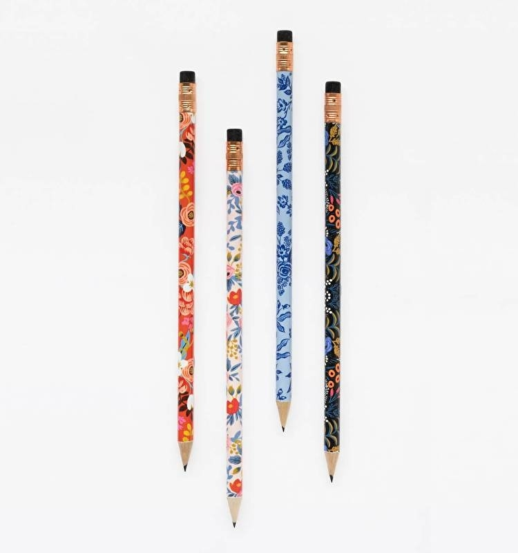 Writing pencils, set of 12 | Floral