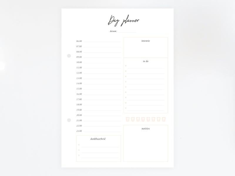 Dagplanner - Vulling