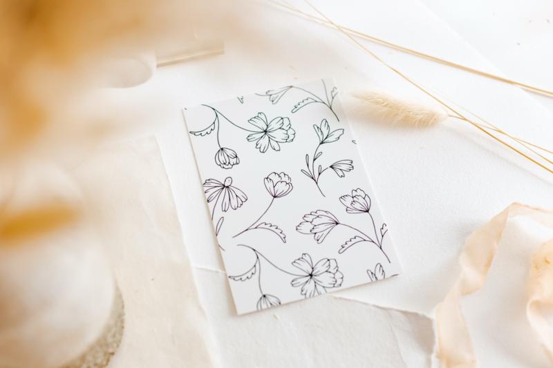 Kaart Blanco Flowers