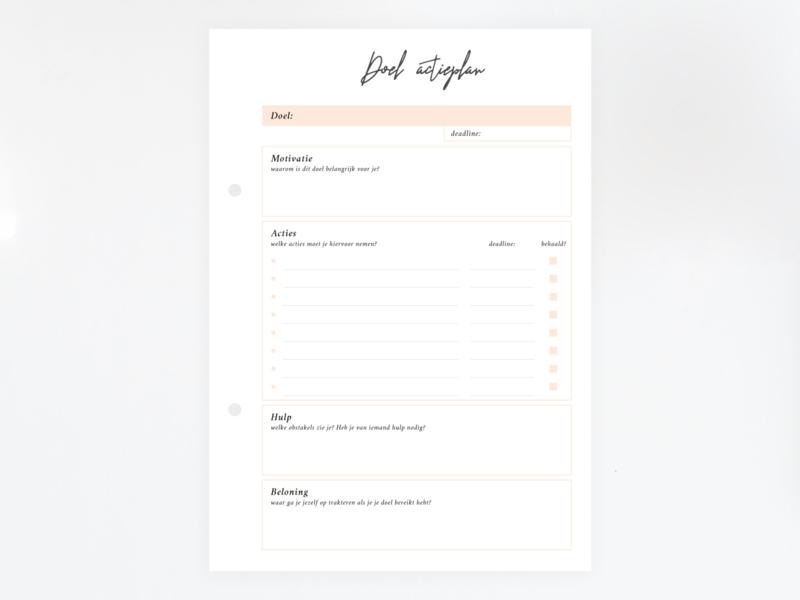 Doelenplanner - Printable