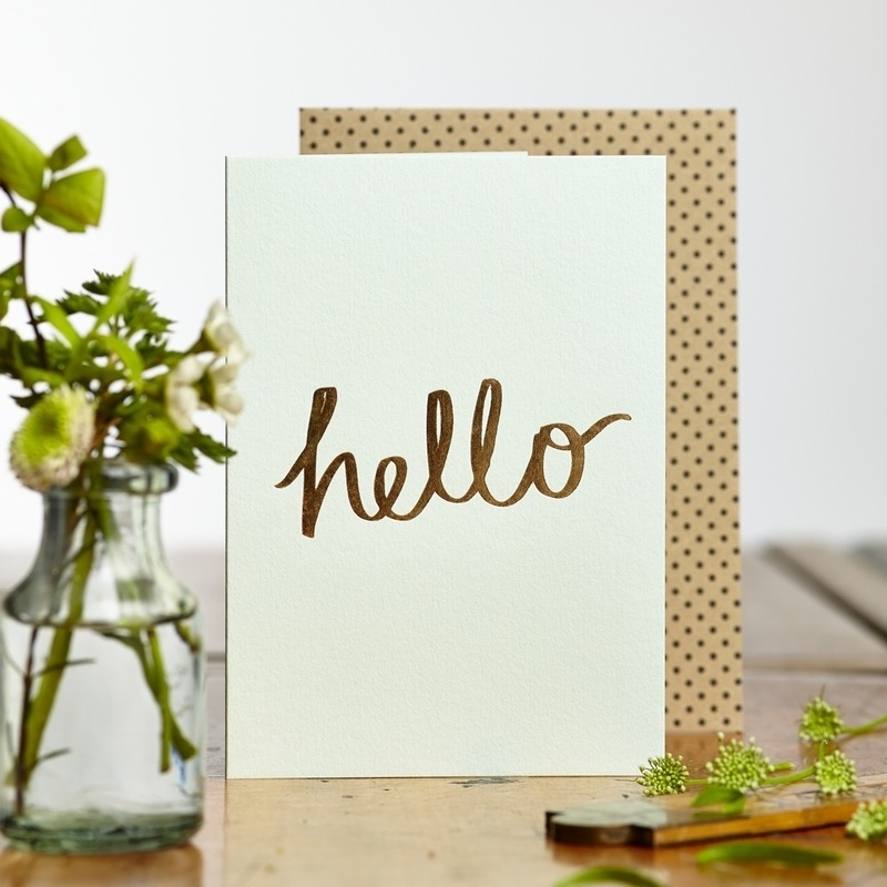 Greeting card Katie Leamon | Hello