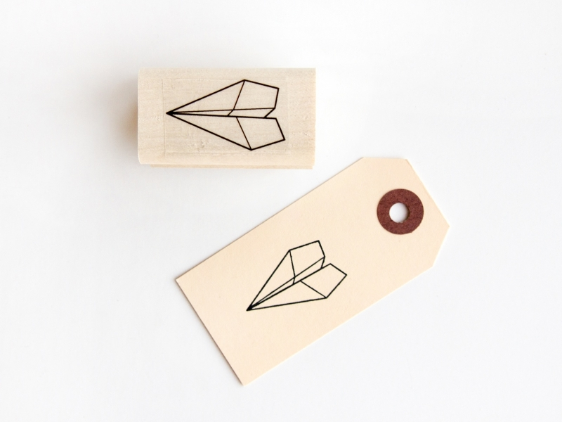 Stamp | Paper airplane