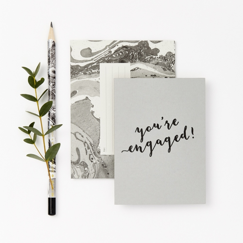 Mini greeting card Katie Leamon | You're engaged!
