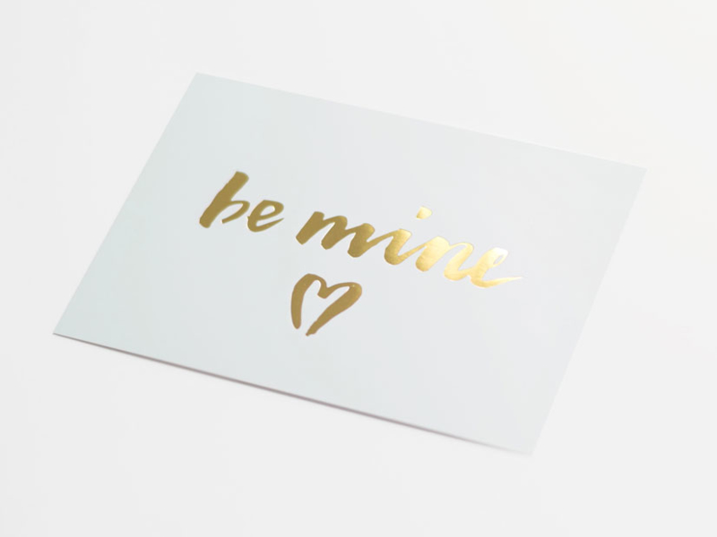 Greeting card gold foil | Be mine