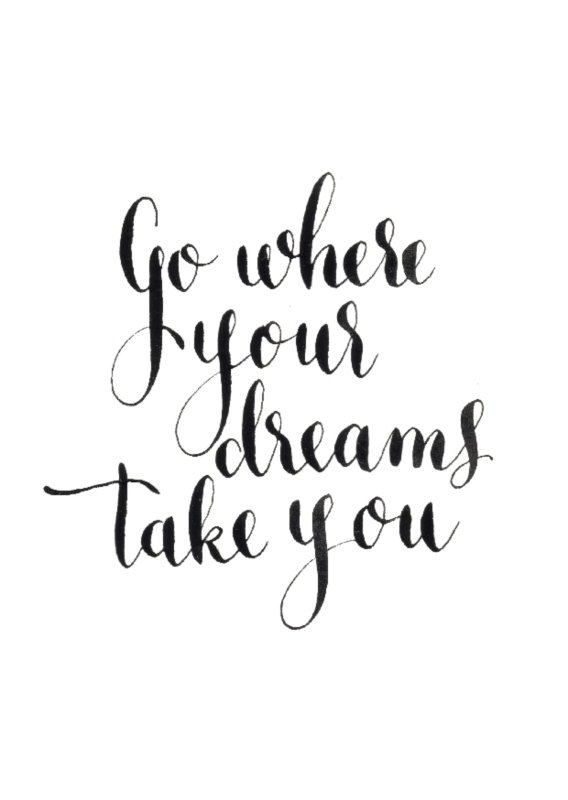 Greeting card | Go where your dreams take you