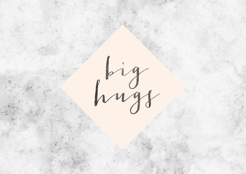 Greeting card | Big hugs