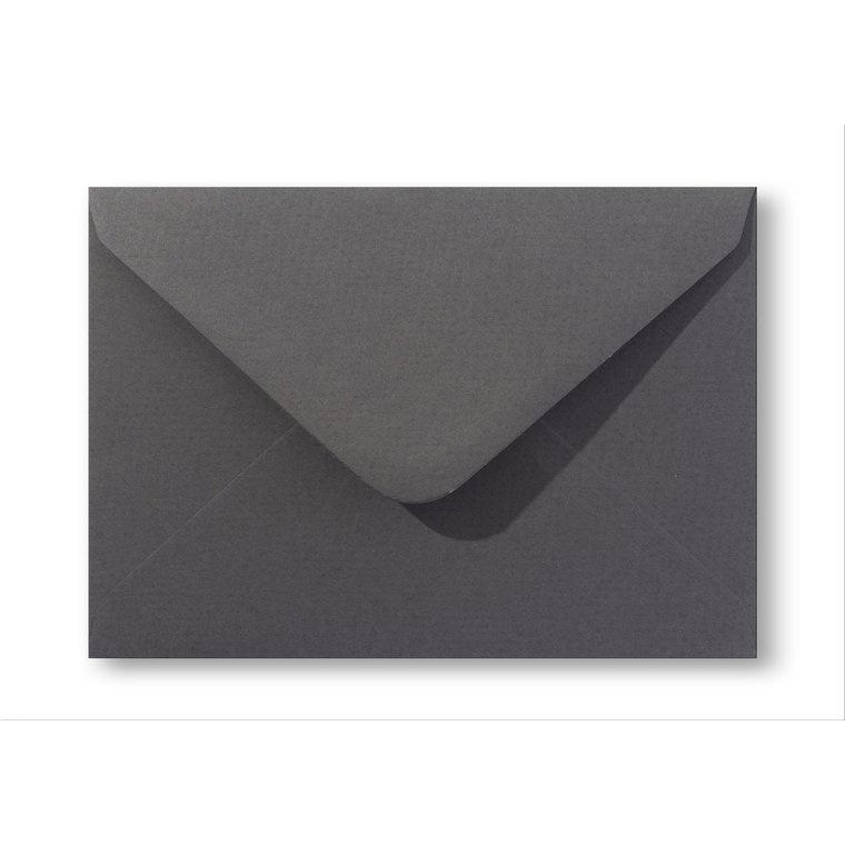 Vintage envelop C6   Antraciet grijs