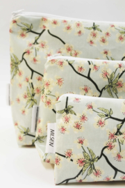 'Blossom' light blue, make-up bag NILSEN