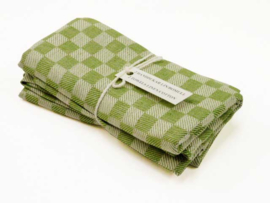Forest green checked tea towels, Axlings