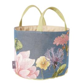 Multi Flower large basket blue, Art de Lys