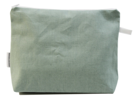 Linen, Mint, wash bag