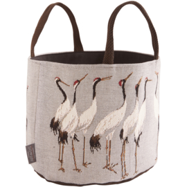 White cranes large basket grey, Art de Lys