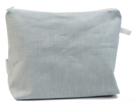 Linen, Light blue, wash bag