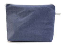 Linen, Denim wash bag