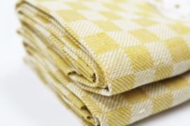 Ocre/white kitchen towel