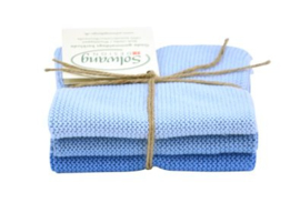 Wash cloth Solwang Design, light blue