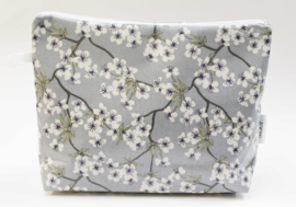 'Blossom' dusty blue,wash bag