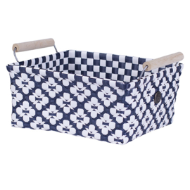 Motif Navy basket, Handed-by
