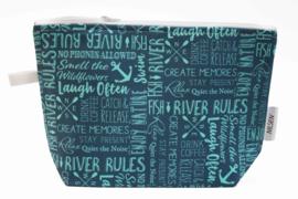 'Laugh Often'  wash bag Nilsen