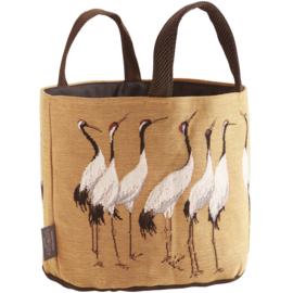 White cranes large basket mostard, Art de Lys