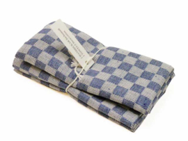 Dark blue checked tea towels, Axlings