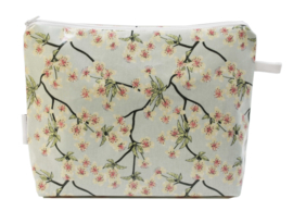 'Blossom' light blue wash bag