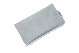 Linen light blue cosmetic bag, Nilsen