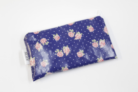 'Cobalt Roses' cosmetic bag, Nilsen