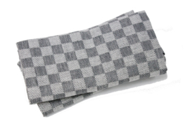 Stone grey checked tea towels, Axlings