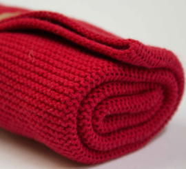 Knitted towel Solwang Design, warm red