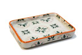 Soap dish orange/green
