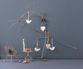 Christmas ornament birds, Maileg